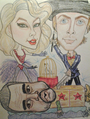 Beck Taylor Swift Kanye West Magic Act Pop Portrait Rock and Roll Caricature Music Art