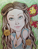 Margaery The Rose Face Portrait