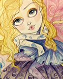 Marley Mushroom Fairy Big Eye Faerie Print by Leslie Mehl