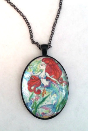 Koi Fish and the Mermaid Fantasy Necklace