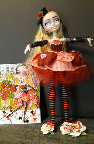 Alice and The Roses Custom OOAK Doll Ever After High Repaint