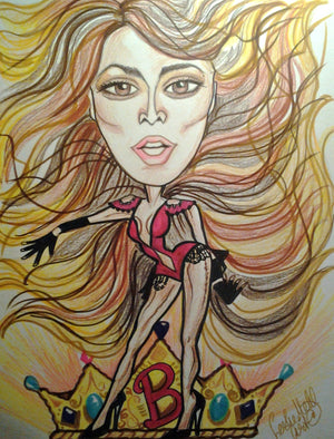 Beyonce Rock and Roll Caricature