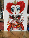 Red Queen Of Hearts Alice In Wonderland Lowbrow Fantasy Art Print