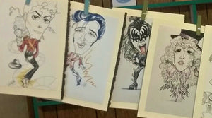 Rock and Roll Legends Greeting Card Set Rock Caricature Art