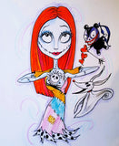 Horror Fantasy Art Sally Gets A Tattoo Lowbrow Jack Sally Nightmare