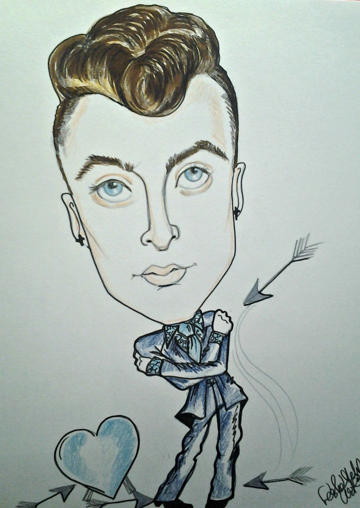 Sam Smith Pop Portrait Music Art Rock Caricature