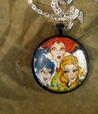 Sanderson Sisters Witches Art Pendant