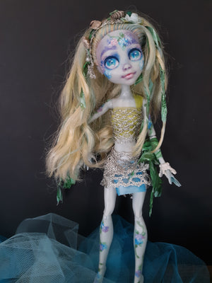 Sea Nymph and her Koi Fish Monster High OOAK Custom Doll repaint