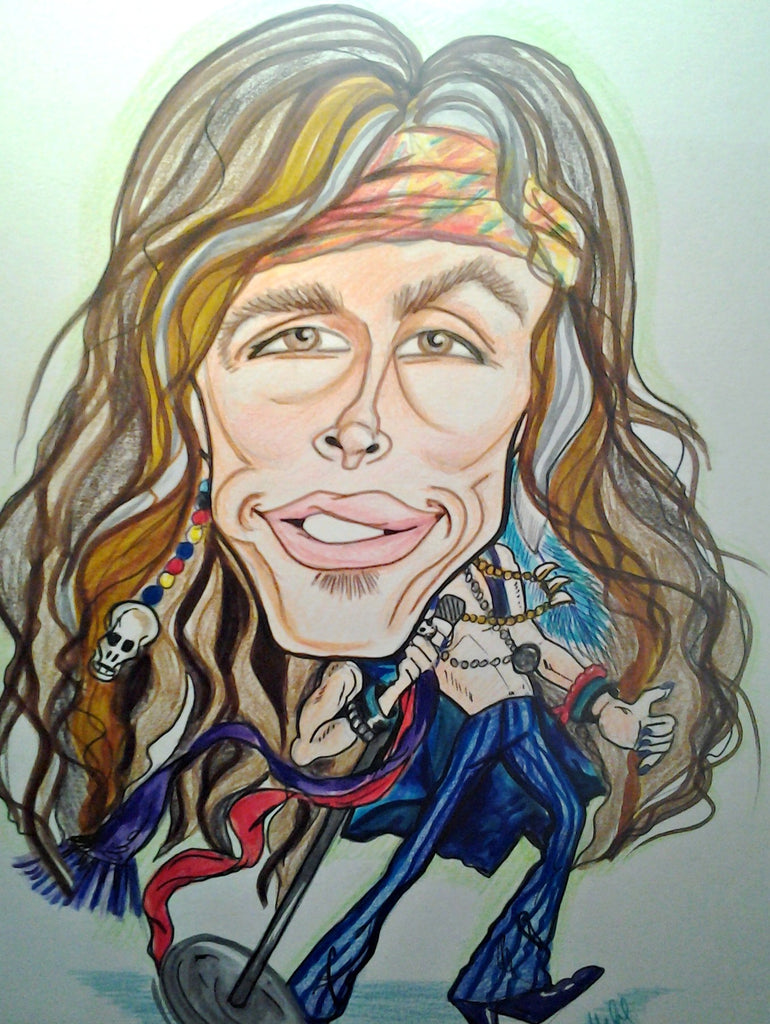 Steven Tyler Rock and Roll Caricature Art Print