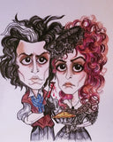 Sweeney Todd and Mrs Lovett Pop Culture Art
