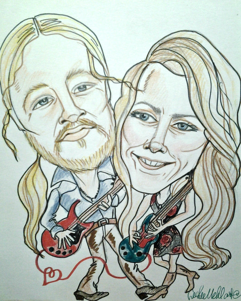 Tedeschi Trucks Pop Portrait Rock and Roll Caricature Music Art
