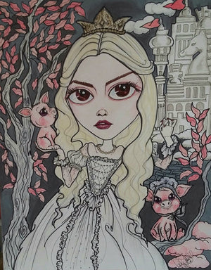 Wonderland The White Queen Fairytale Lowbrow Art