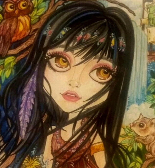 Tiger Lily in Neverland Fairytale Fantasy Art Print