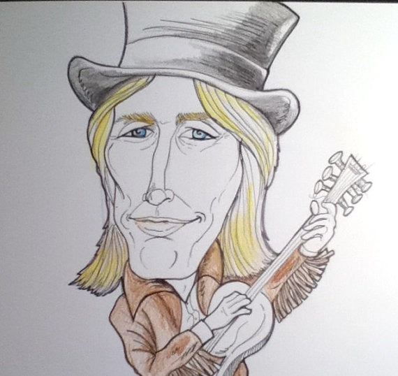 Tom Petty Rock and Roll Caricature