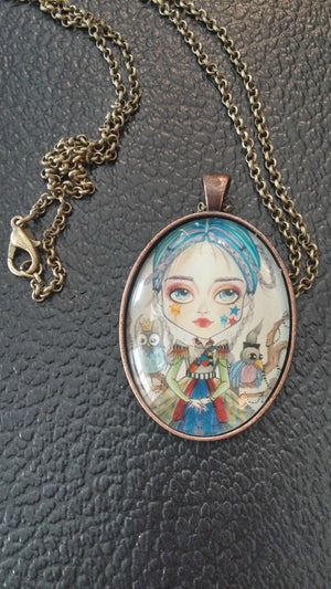 Lowbrow Victoria Art Pendant Fantasy Necklace