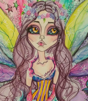 Rainbow Wistful Fairy Fantasy Art Fairy Art