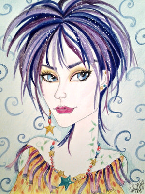 Desiree Fantasy Face Pop Art Print