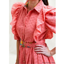 Load image into Gallery viewer, Cotton Broderie Anglaise Dress - Pink - EMILY LOVELOCK