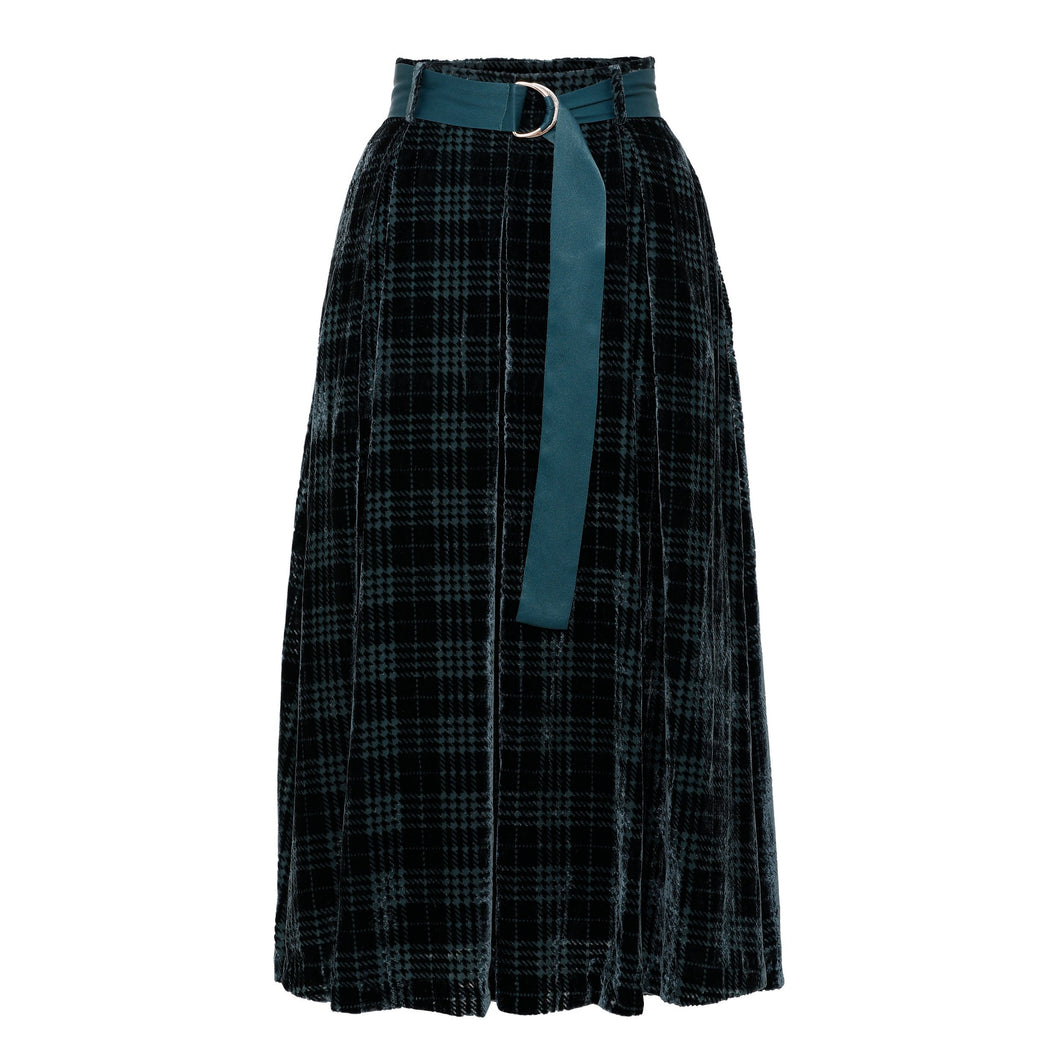 Flared Devoré Skirt - EMILY LOVELOCK