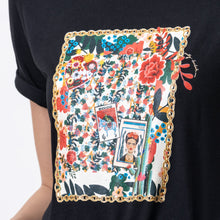 Load image into Gallery viewer, Frida Tee Black - EMILY LOVELOCK
