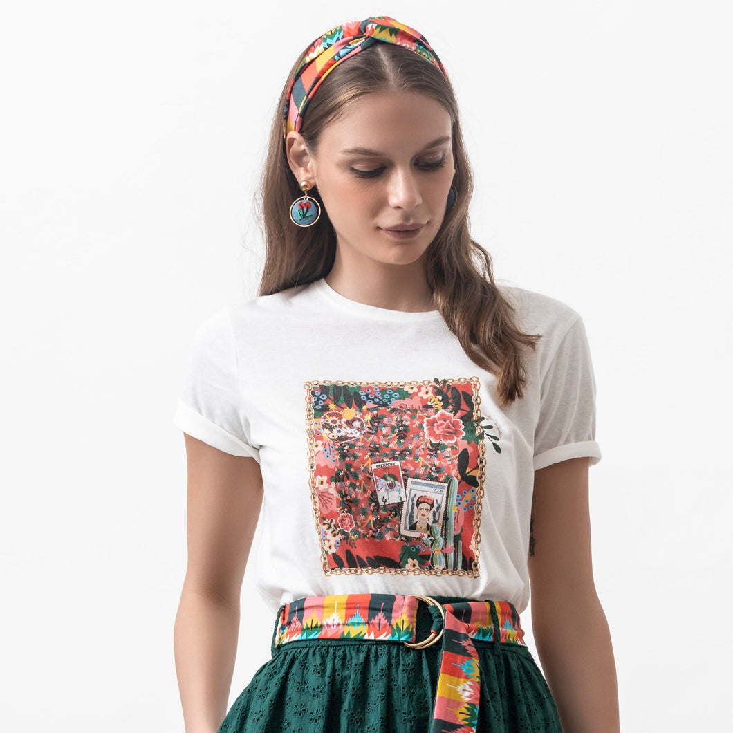 Frida Tee White - EMILY LOVELOCK