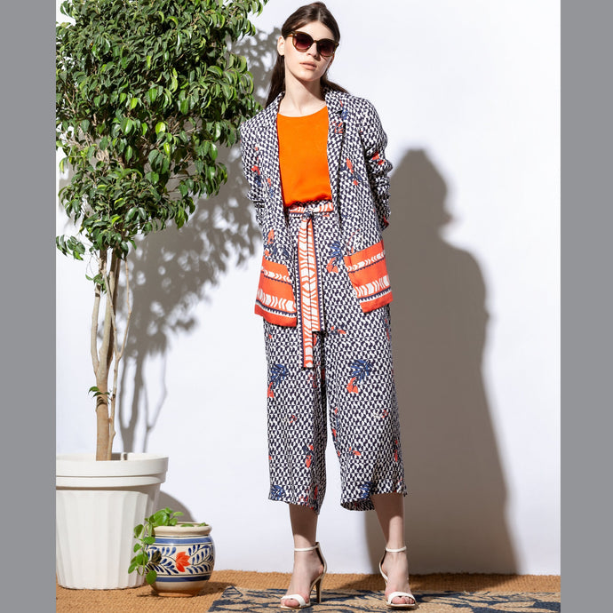 Geometric Print Culottes - EMILY LOVELOCK