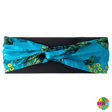 Load image into Gallery viewer, Mexico Jungle Headband - Blue - EMILY LOVELOCK