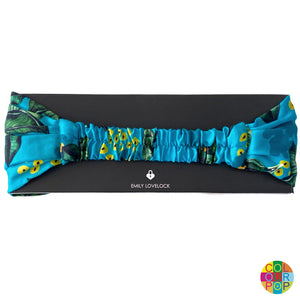 Mexico Jungle Headband - Blue - EMILY LOVELOCK