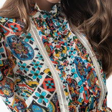 Load image into Gallery viewer, Mosaic Tile Print Blouse - EMILY LOVELOCK