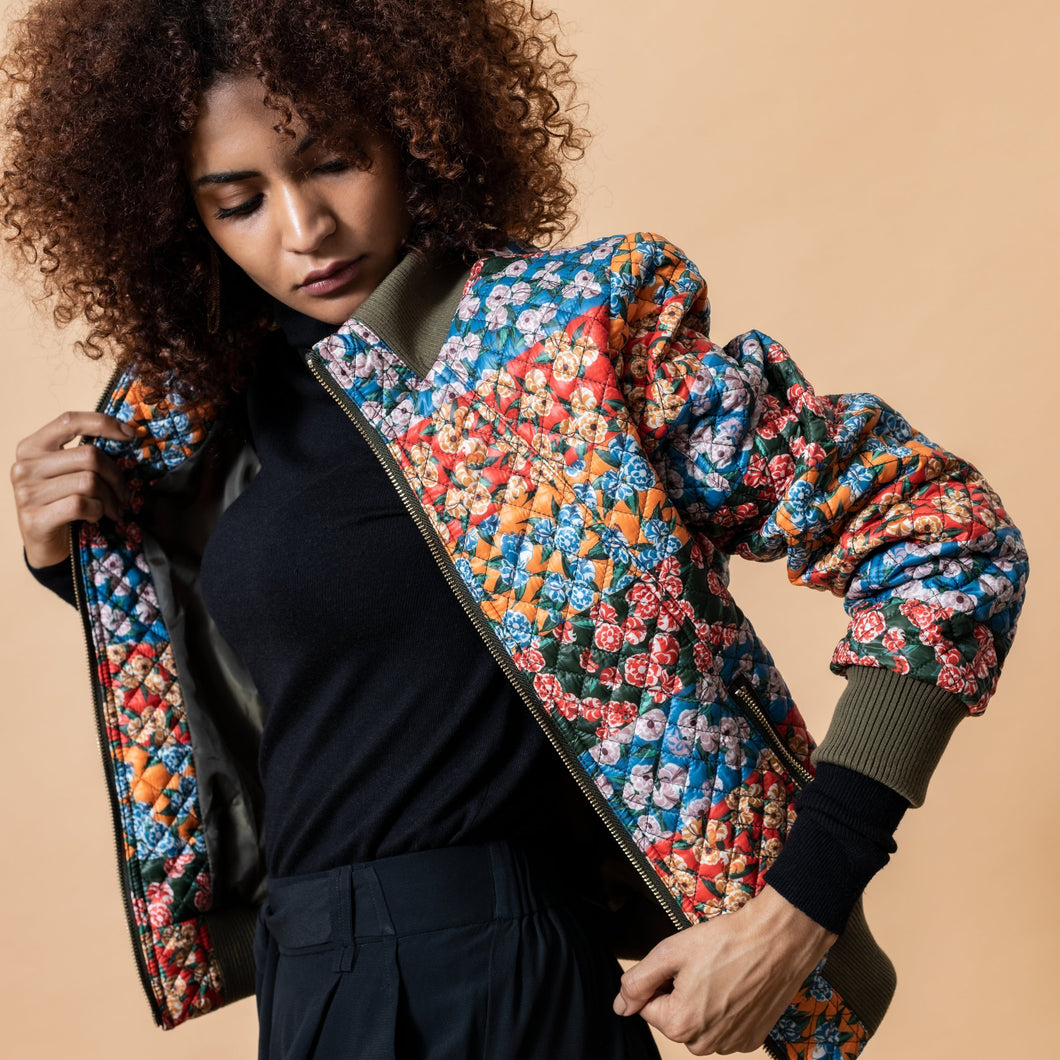 Multi Print Bomber - Use Code EMILYLOVESKRITIKA for a 25% Discount - EMILY LOVELOCK