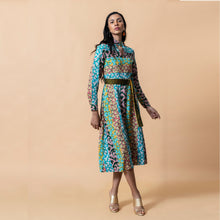 Load image into Gallery viewer, Multi Print High Neck Dress - EMILY LOVELOCK