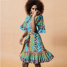 Load image into Gallery viewer, Multi Signature Print Dress - EMILY LOVELOCK