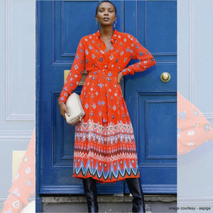 Signature Print Multi Shirt Dress - EMILY LOVELOCK