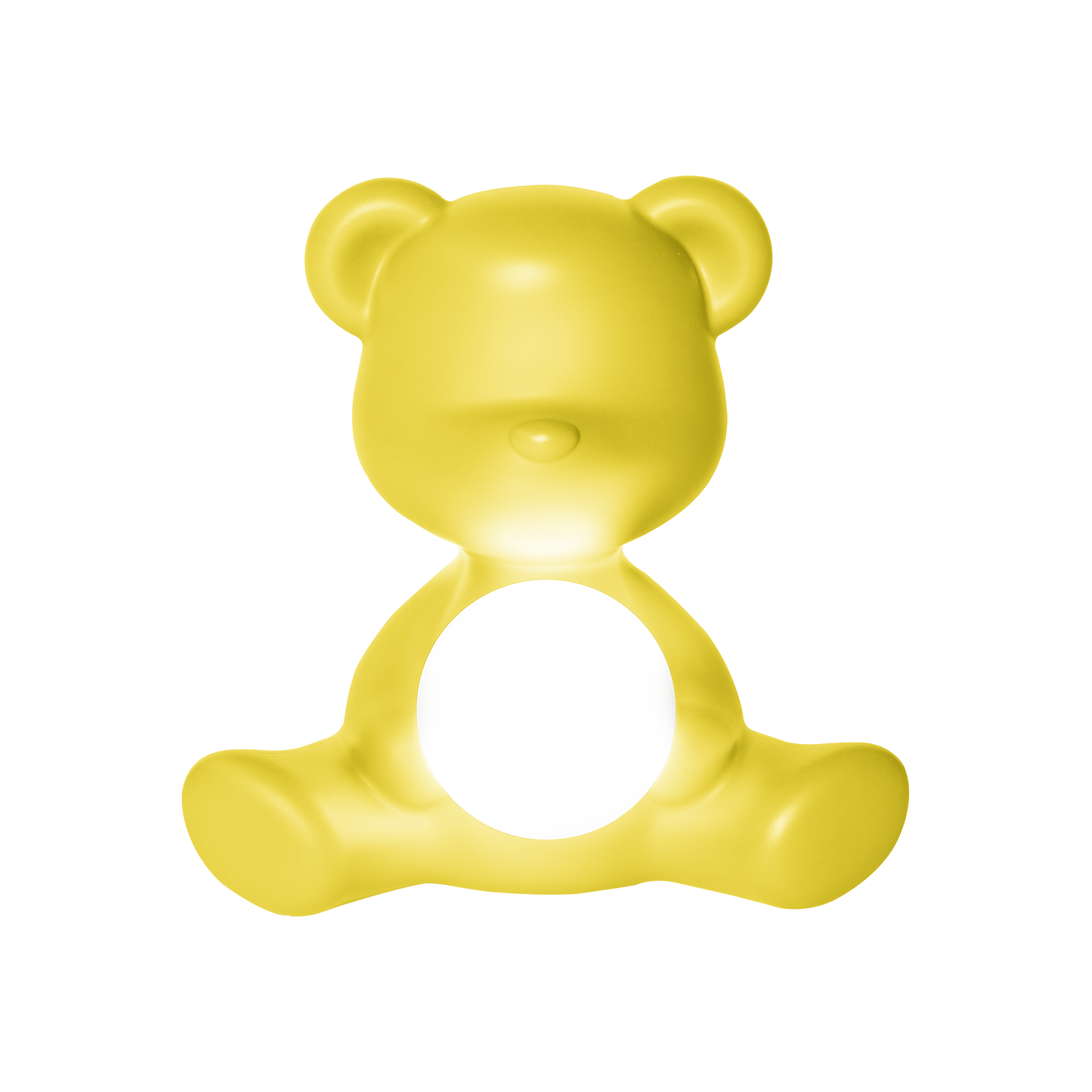 Qeeboo Teddy Girl Rechargeable Lamp Yellow