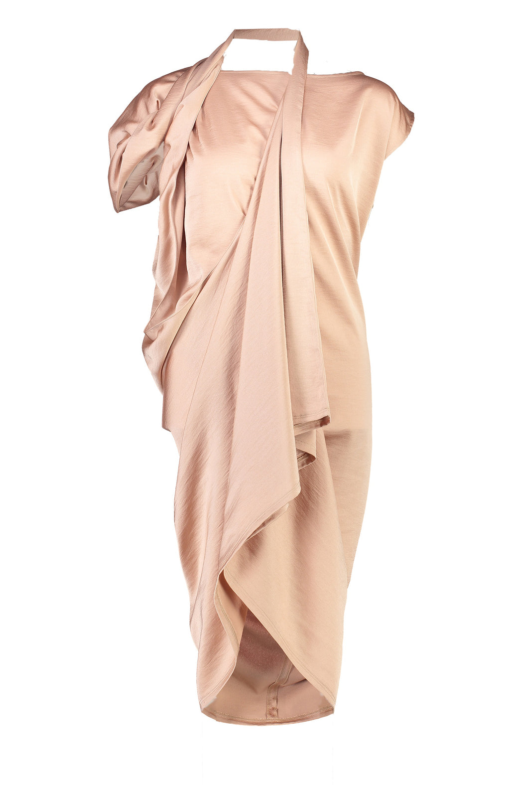 WORLD 4378 Travolta Dress Dusky Pink
