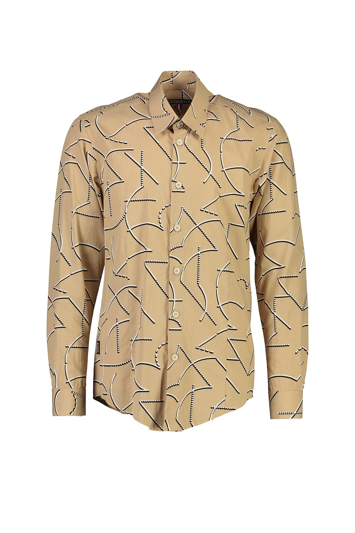 WORLDman 4560 Perverse Shirt Tan Print