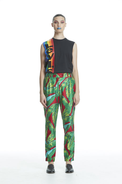 WORLD 4456 The Designer Pleat Trouser Tropical