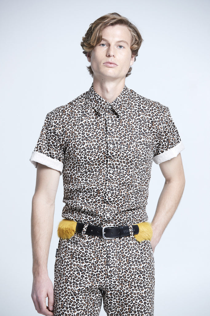 WORLDman 4201 Giuseppe Shirt Small Leopard