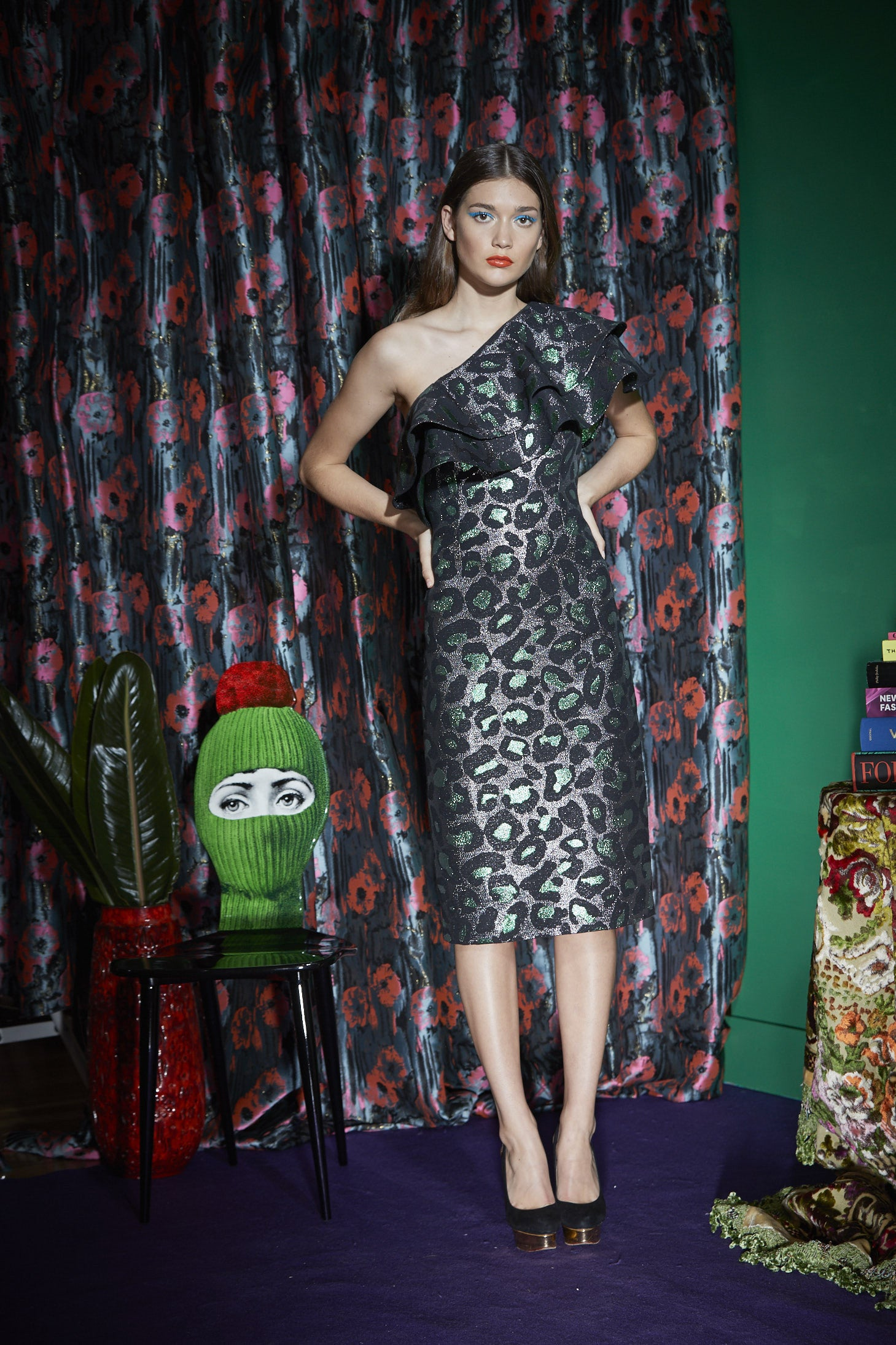 WORLD 4174 Protest Cocktail Dress Green