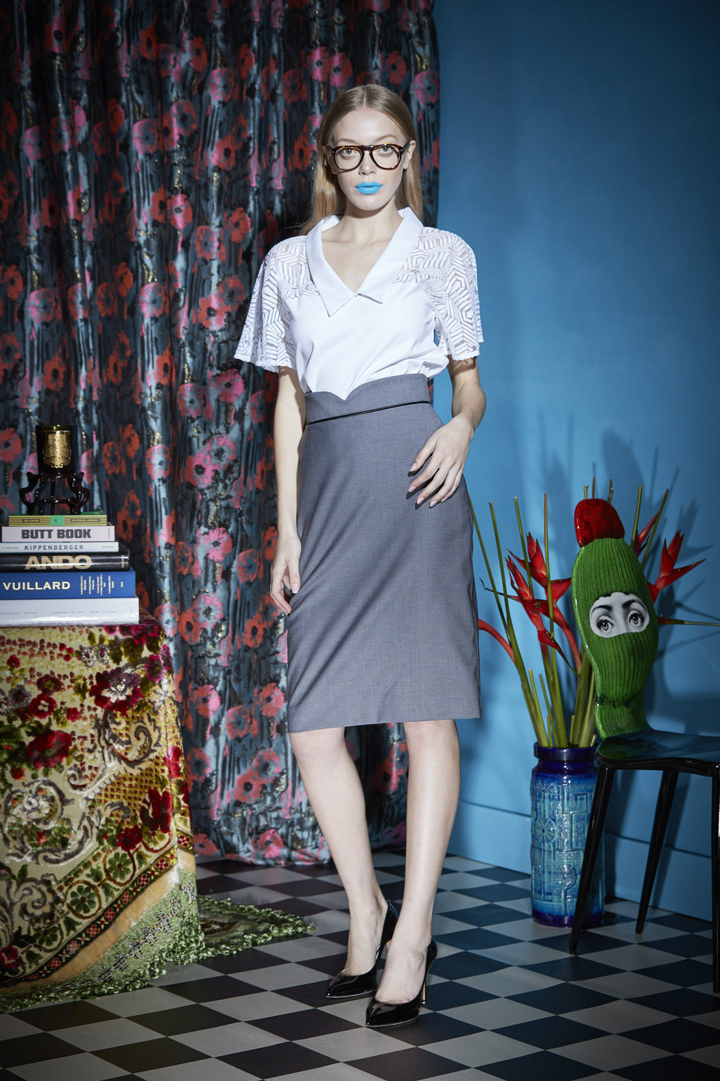 WORLD 4159 Gattopardo Skirt Grey
