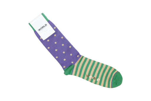 WORLD Stripe-Spot Socks / One Size