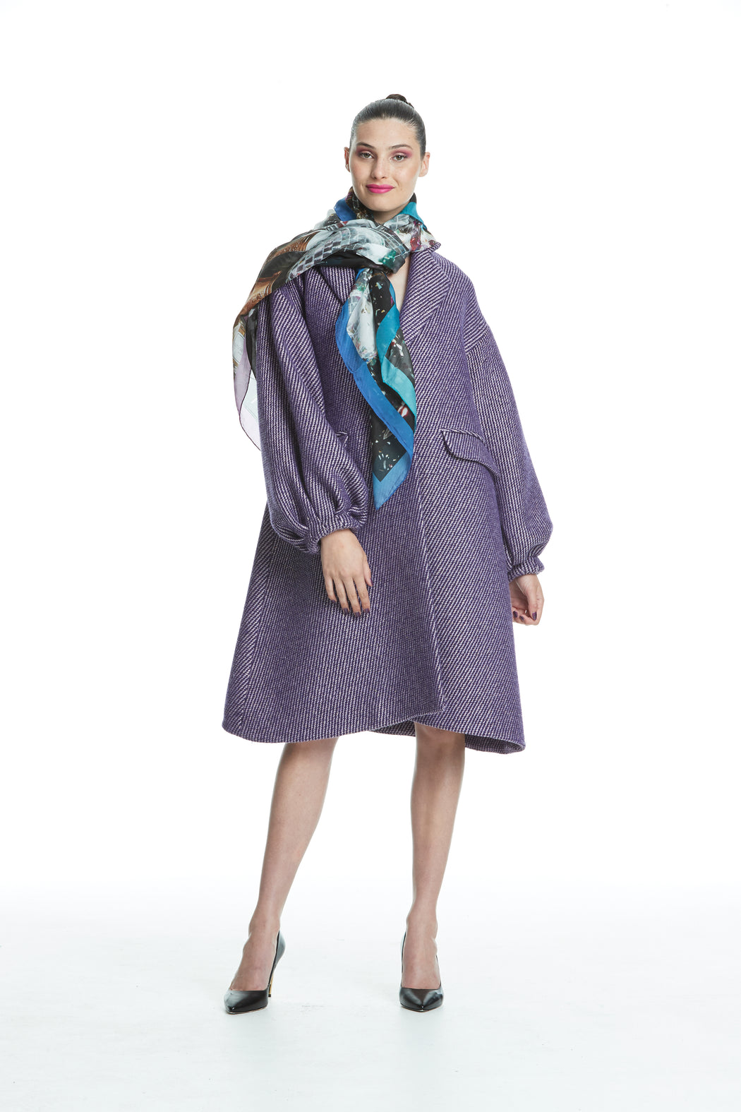 WORLD 4444 Connotation Coat Purple Gold Sparkle