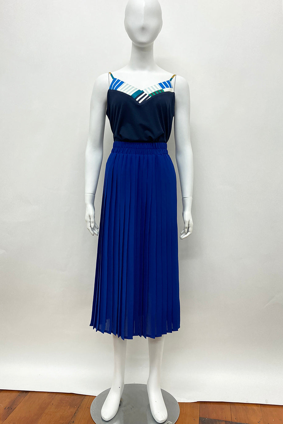 WORLD 4623 Prance Pleated Skirt Royal Blue