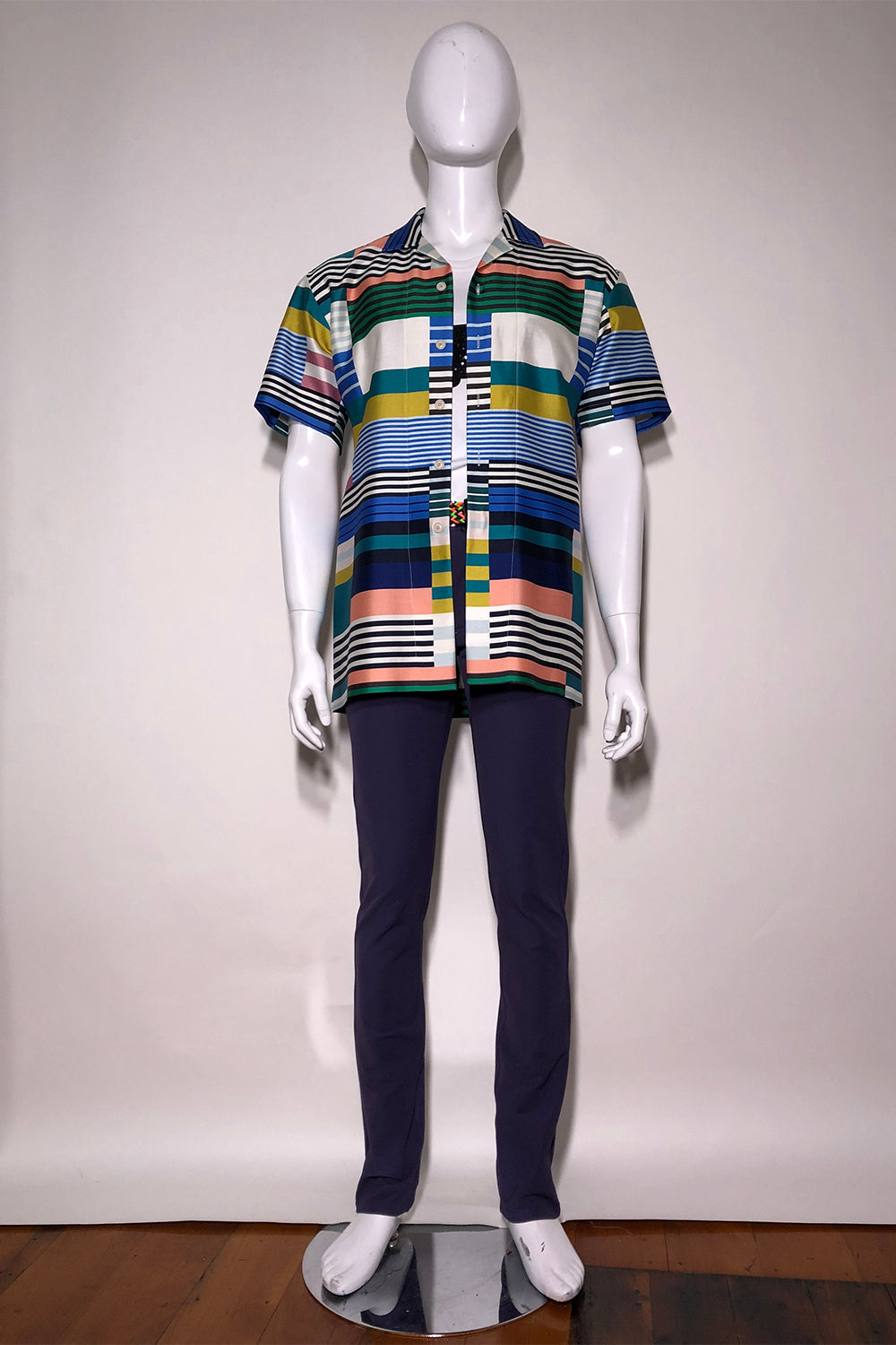 WORLDman 4669 Swagger S/S Shirt Multi Stripe