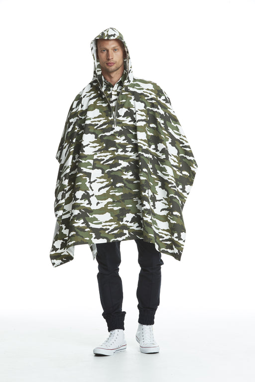 WORLD 4447 Attitude Poncho Camo