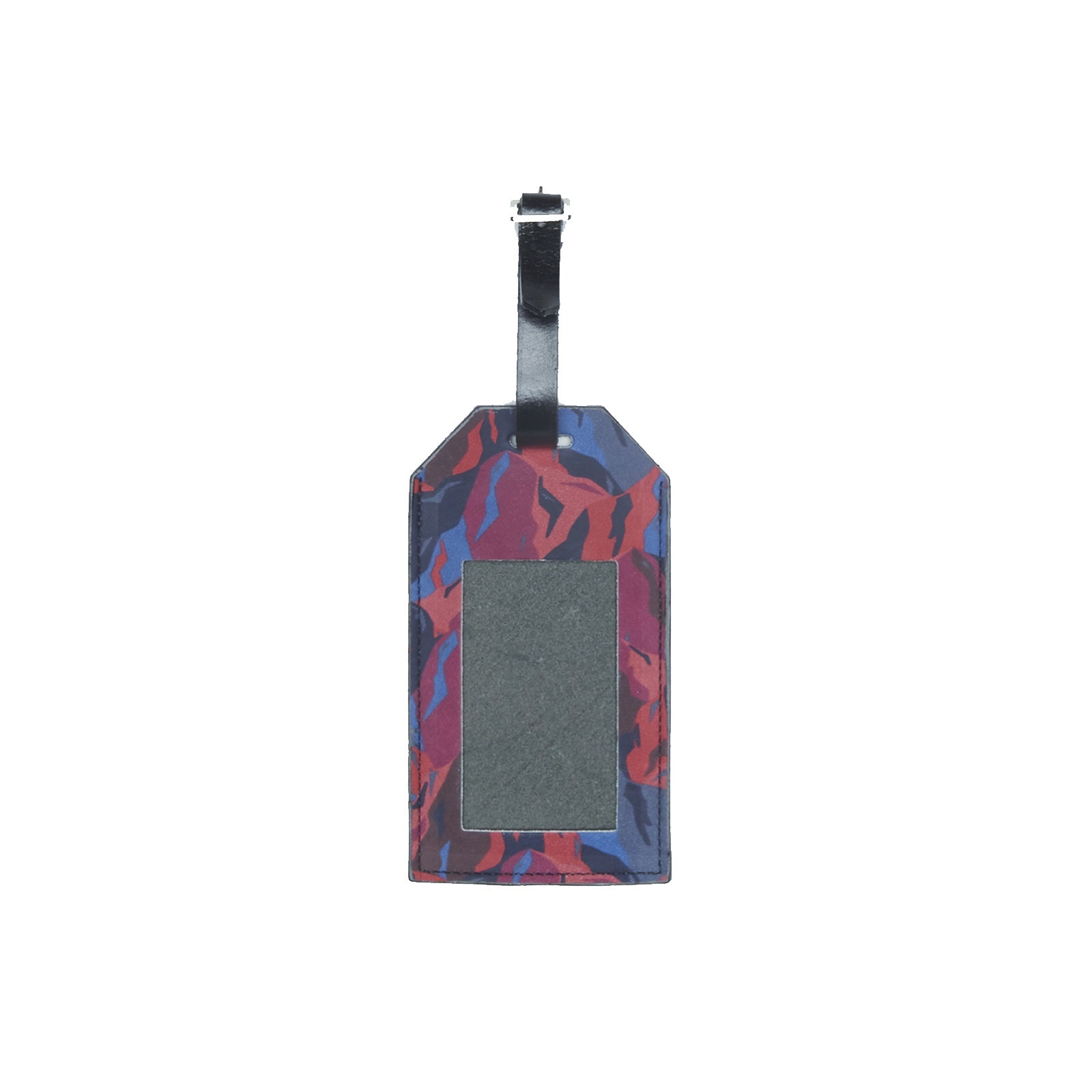 WORLD Liberty Leather Luggage Tag - Abstract Mountains