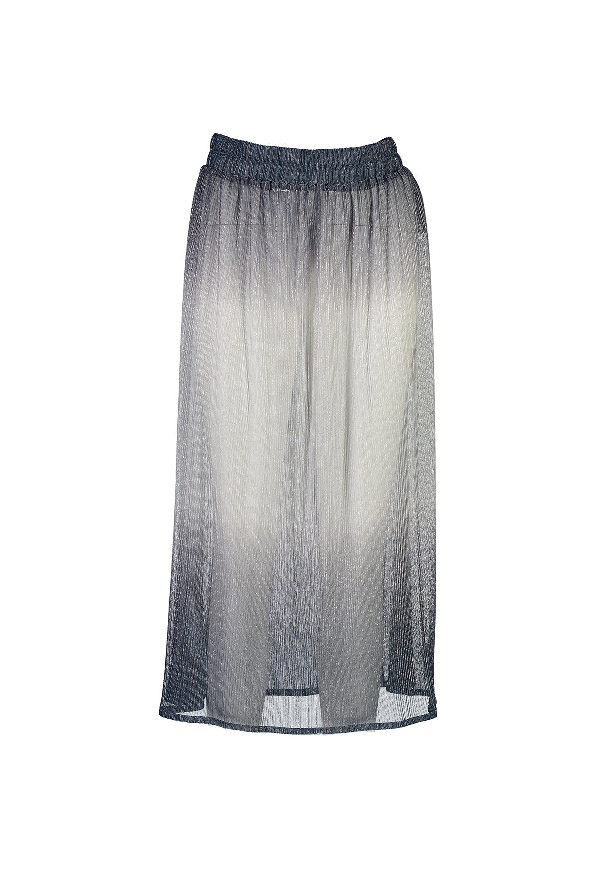 WORLD 4540 Astray Pleat Skirt Ink Silver