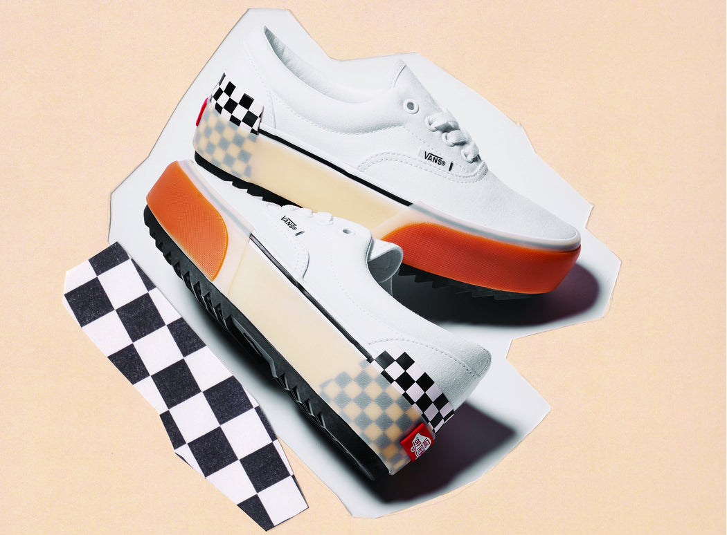 Vans  Era Stacked White Check