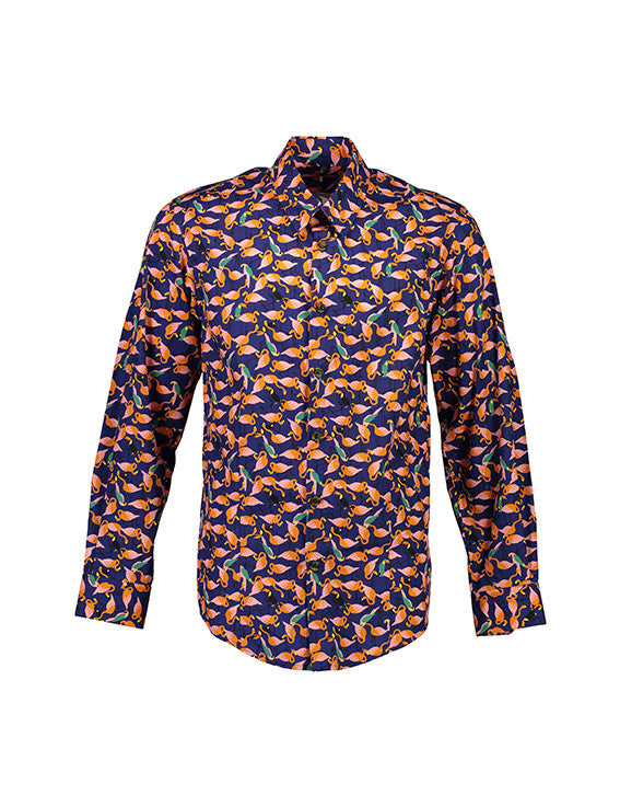 WORLDman 4200 The Thousand Shirt Navy Flamingo