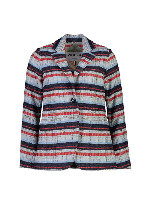 WORLD 4504 The Kiss Jacket Navy Red Stripe